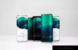 饮料易拉罐罐头外观设计效果图样机