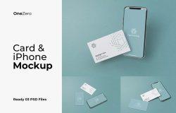 iPhone+名片同框合体广告设计实体