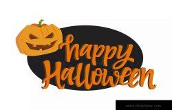 万圣节节日海报彩色矢量插画 Happy Halloween poster – colorful illustration