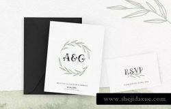 水彩SVG字体/花卉装饰/Logo模板套装 Ciera watercolor svg font, florals & logos