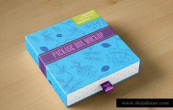 创意抽屉式礼品包装盒样机模板 Package Box Mock-Up