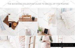 波西米亚风格明亮室内照片 Bohemian Collective | Stock Photos