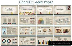 儿童主题PPT幻灯片模板 Charlie Powerpoint Template