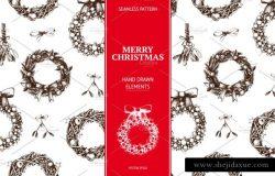 圣诞节装饰元素设计素材 Vector Christmas Design
