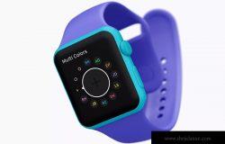 5K高分辨率Apple Watch智能手表黏土样机模板02 Clay Apple Watch Mockup