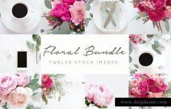 春季绚丽风格花卉配图 Styled Stock Photos+FREE blog header