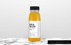 高品质的橙汁瓶展示样机
