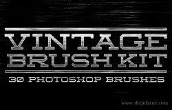 复古怀旧风格文本图层样式PS笔刷 Vintage Brush Kit