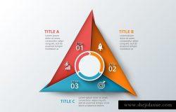 三角多边形信息图表模板v.20 Infographics template set v.20
