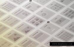 网站设计线框图设计套件 Website Wireframe Kit