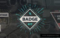 复古设计风格徽章设计素材工具包v2 Badge Creator Kit Vol.2