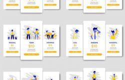 产品服务套餐价格展示创意插图设计模板[Ai]