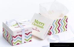 立方体礼品盒包装外观设计效果图样机01 Cube Gift Box Mockup