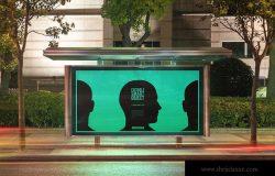 城市夜景海报广告牌设计效果图预览样机#5 Urban Poster-Billboard Mock-Ups – Night Edition