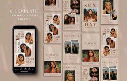 报纸背景人物摄影Instagram故事贴图模板