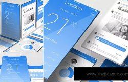 iOS应用UI界面设计效果图样机模板 iOS App Mockups