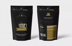 咖啡豆大包装设计样机模板