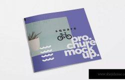 方形小册子宣传册封面&内页版式设计效果图样机 Square Brochure Mockups ZZH / 2019.11.6 印刷品样机  18  0  0
