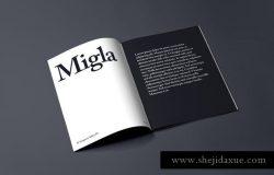 高端杂志样机模板 Migla Realistic Magazine Print Mockup