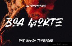 独特粗体干笔刷英文书法字体 Boa Morte Bold Handbrush Font