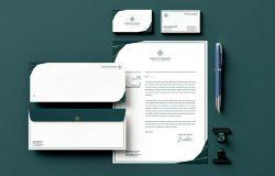 优雅风格企业品牌VI设计办公文具套装