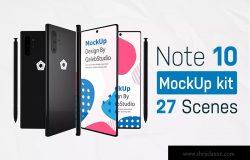 三星智能手机Note 10多角度预览样机模板 Note10 Kit