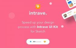 旅行类App应用程序iOS UI套件