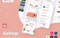 蔬菜商店购物移动App应用UI设计套件