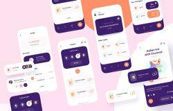 冰淇淋电子商店App应用设计iOS UI套件