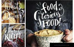 食品摄影装饰字体元素集合-Vol.1 Food Photography Overlays – Set