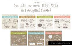 35款手绘Logo制作设计模板 35 Hand Drawn Logos Bundle – Vector