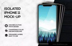 堆叠摆放iPhone 11手机样机模板 iPhone