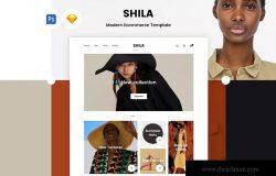 时尚女装电子商务网上商城设计PSD&SKETCH模板