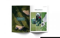 高尔夫俱乐部简介宣传画册设计模板 Golf A4 Brochure Template