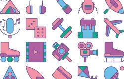 25枚兴趣爱好主题矢量图标素材