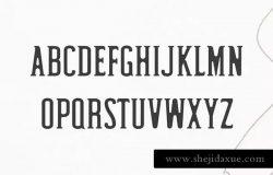现代简约圆角英文衬线字体家族 Hyman Rounded Serif Font Family