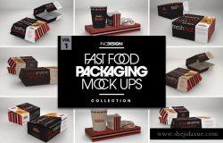 肯德基麦当劳快餐外卖盒包装样机展示模型mockups大集合