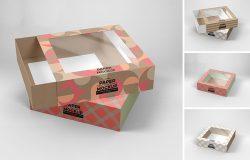 中号尺寸抽屉式透明产品包装盒设计效果图样机