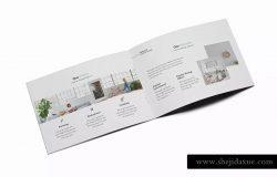 北欧装修风格室内设计A5规格画册设计模板