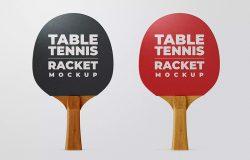 乒乓球拍品牌Logo定制设计样机模板