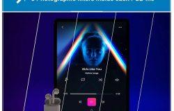 音乐APP界面设计效果图iPad Pro平板电脑样机模板 iPad Pro Music App