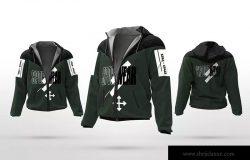 运动夹克外观设计图样机 Sport Jacket Mockups