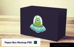 产品包装纸盒设计展示样机模板