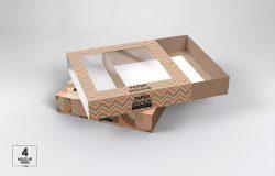 小尺寸抽屉式透明产品包装盒设计效果图样机