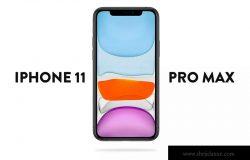 iPhone 11 Pro Max手机正面视图屏幕预览样机模板 iPhone 11 Pro Max Mockup