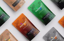 茶叶品牌VI视觉设计效果图样机模板