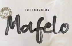 创意水彩马克笔写实效果英文字体 Mafelo SVG Font