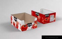 零售货架包装纸箱样机模板 Retail Shelfbox 17 Packaging Mockup