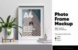 木质艺术边框相框设计预览样机