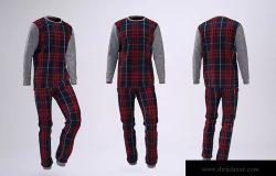 睡衣套装设计效果图样机模板 Pajamas Mock-Up